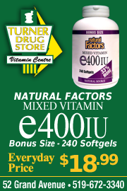 Turner Drug Store: natural Factors Mixed Vitamin e400iu